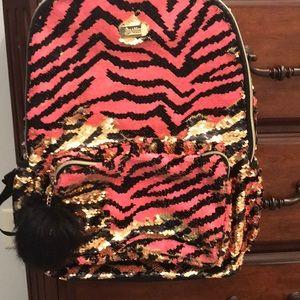 Justice Shimmery Sequin Bookbag